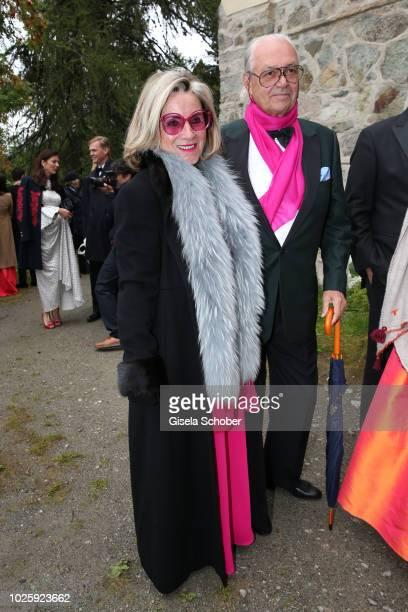 Princess Alexandra and her husband Hubertus Viktor Fuerst FuggerBabenhausen during the wedding of Prince Konstantin of Bavaria and Deniz Kaya at the...