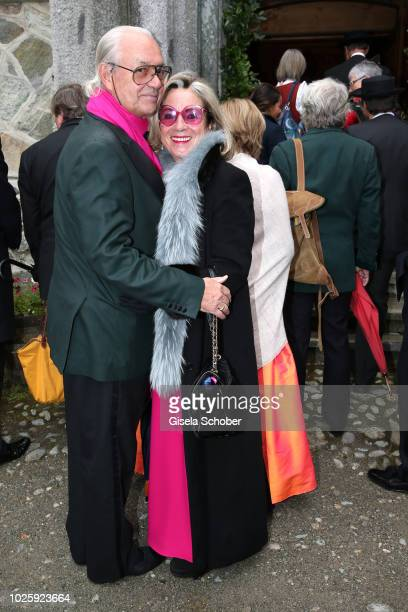 Princess Alexandra and her husband Hubertus Viktor Fuerst FuggerBabenhausen during the wedding of Prince Konstantin of Bavaria and Deniz Kaya at the...