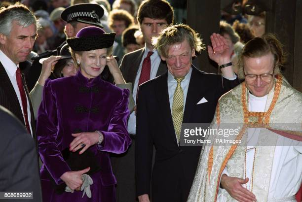 Princess Alexandra and Sir Angus Ogilvy after the wedding of their daughter Marina Ogilvy to Paul Mowatt at St Andrew's Parish Church Ham On the...