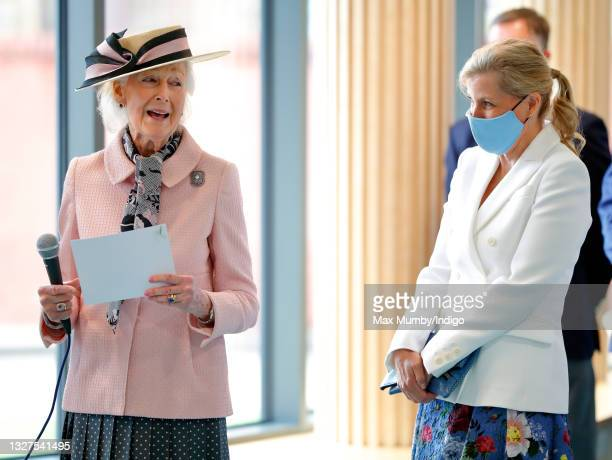 Princess Alexandra and Sophie, Countess of Wessex visit the Guide Dogs for the Blind Association to open their new south west regional centre and...