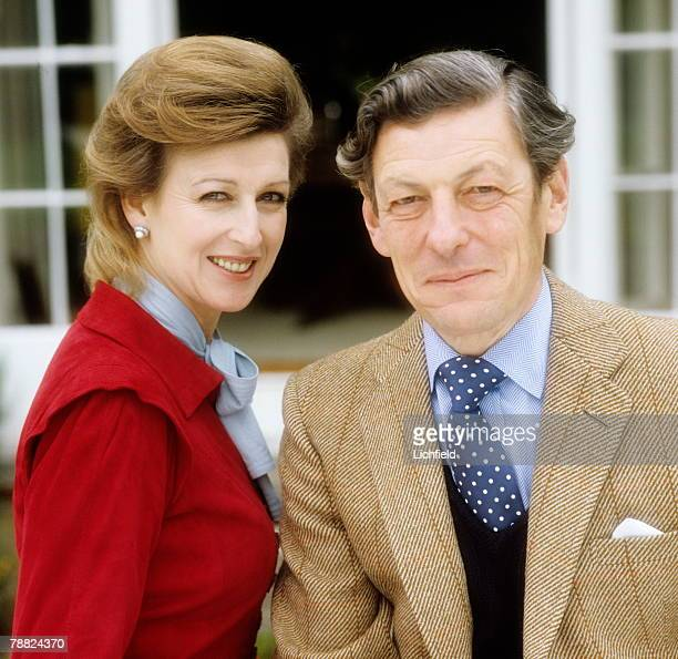 HRH Princess Alexandra and The Hon Angus Ogilvy in their garden at home at Thatched House Lodge Richmond Park on 8th August 1980 Taken as part of a...