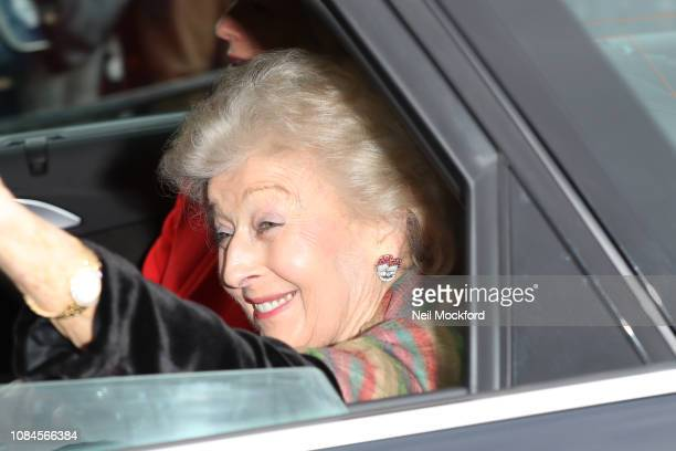Princess Alexandra arrives at Buckingham Palace for the Queen's Christmas Lunch on December 19 2018 in London England