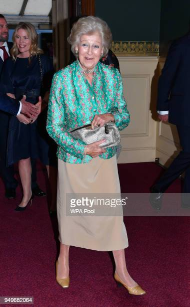 Princess Alexandra arrives at the Royal Albert Hall to attend a starstudded concert to celebrate the Queen's 92nd birthday on April 21 2018 in London...