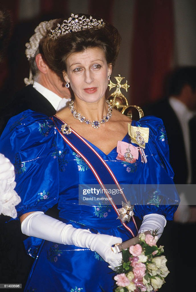 Princess Alexandra arriving at a State Banquet : News Photo