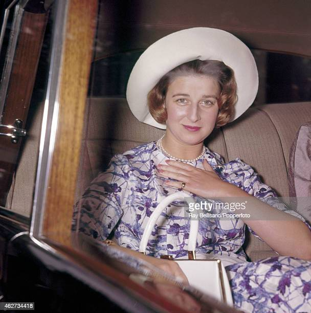 Princess Alexandra arriving for a Royal Commonwealth Society for the Blind meeting at Church House Westminster London on 18th July 1961