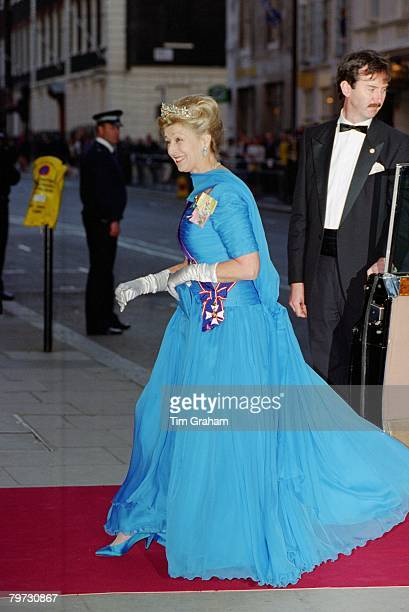 Princess Alexandra arriving for The Amir of Kuwait banquet at Claridge's Hotel in London