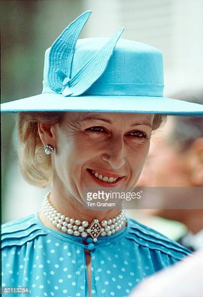 Princess Alexandra At A Garden Party During An Official Tour Of Jersey 25 26 July 1983