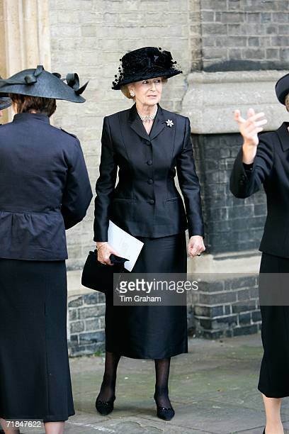 Princess Alexandra at St Paul's Church in Knightsbridge for a memorial service for Major Bruce Shand on September 11 2006 in London England