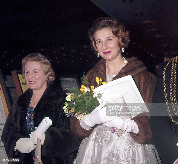 Princess Alexandra attending a concert at the Royal Festival Hall in London on 23rd February 1961
