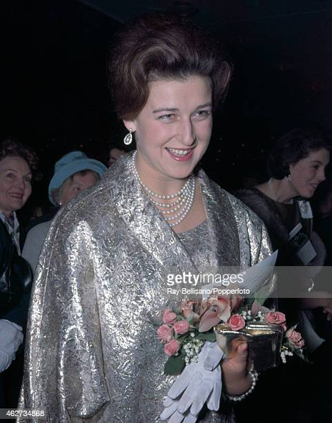 Princess Alexandra attending a concert at the Royal Festival Hall in London on 1st June 1962