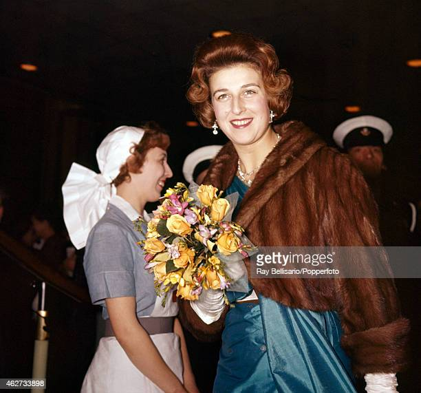 Princess Alexandra attending a performance at the Royal Festival Hall in London on 9th December 1960