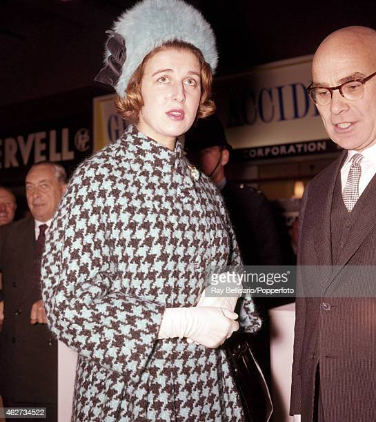 Princess Alexandra attending the Motor Show in London on 18th October 1961