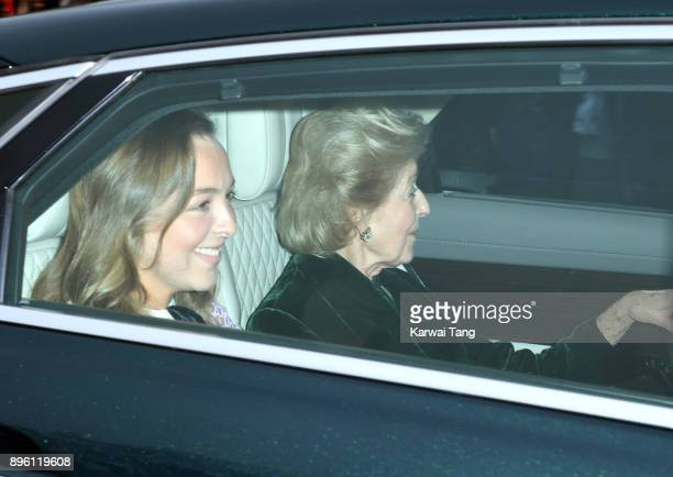 Princess Alexandra attends a Christmas lunch for the extended Royal Family at Buckingham Palace on December 20 2017 in London England