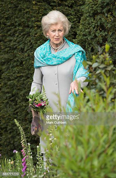 Princess Alexandra attends Chelsea Flower Show press day at Royal Hospital Chelsea on May 23, 2016 in London, England. The prestigious gardening show...