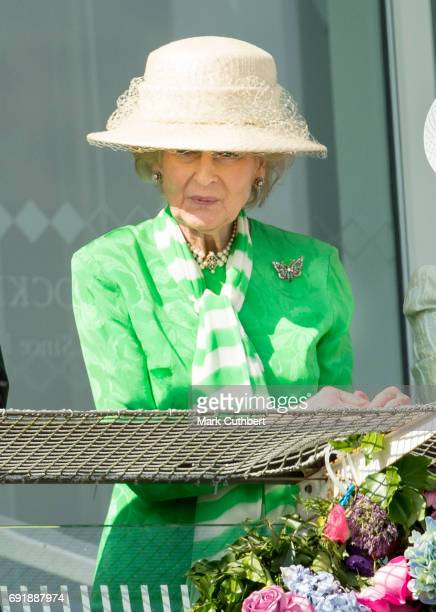 Princess Alexandra attends Derby day at Epsom Derby festival at Epsom Downs on June 3, 2017 in Epsom, England.