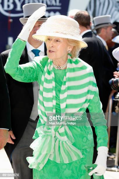 Princess Alexandra attends Derby Day during the Investec Derby Festival at Epsom Racecourse on June 3, 2017 in Epsom, England.
