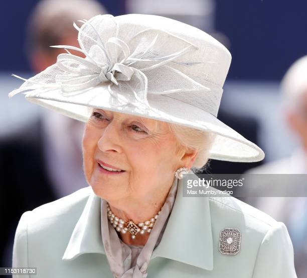 Princess Alexandra attends 'Derby Day' of the Investec Derby Festival at Epsom Racecourse on June 1, 2019 in Epsom, England.