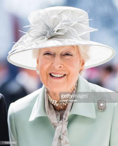 Princess Alexandra attends the Epsom Derby at Epsom Racecourse on June 01, 2019 in Epsom, England.