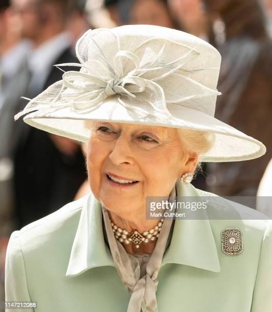 Princess Alexandra attends the Epsom Derby at Epsom Racecourse on June 1, 2019 in Epsom, England.