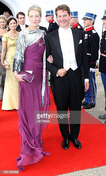 Princess Alexandra Berleburg And Count Jefferson Of Denmark Attend The Wedding Of Prince Joachim Of Denmark And Miss Marie Cavallier At Mogeltonder...