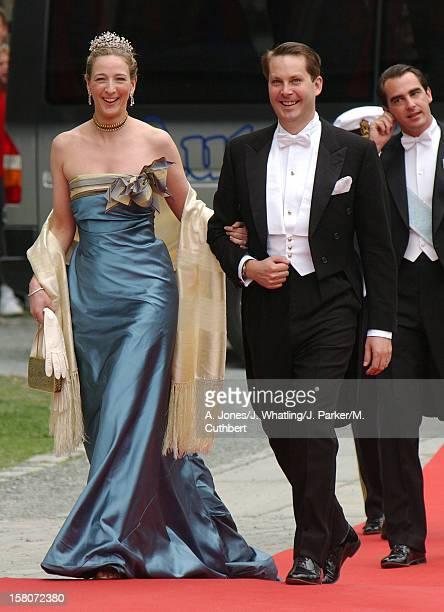 Princess Alexandra Berleburg At The Wedding Of Princess Martha Louise Of Norway And Ari Behn In Trondheim