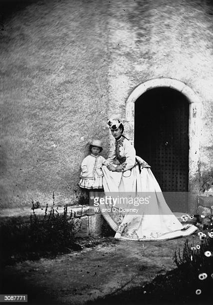 Princess Alexandra consort of the future King Edward VII with her eldest child Prince Albert Victor Duke of Clarence