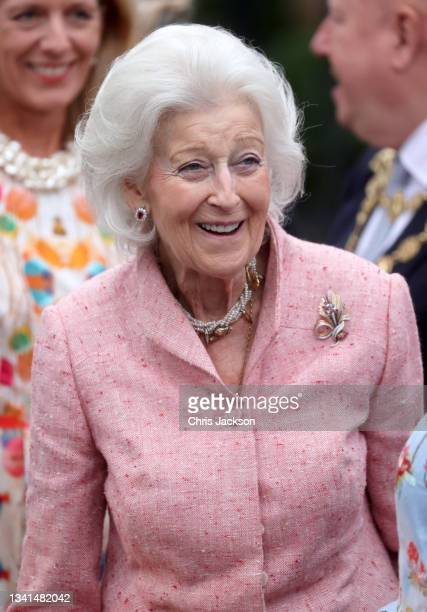 Princess Alexandra during a visit to the Autumn RHS Chelsea Flower Show on September 20, 2021 in London, England. This year's RHS Chelsea Flower Show...