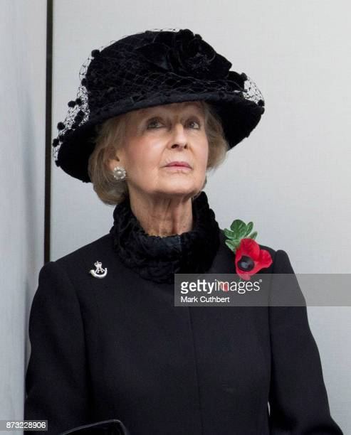 Princess Alexandra during the annual Remembrance Sunday memorial on November 12 2017 in London England The Prince of Wales senior politicians...