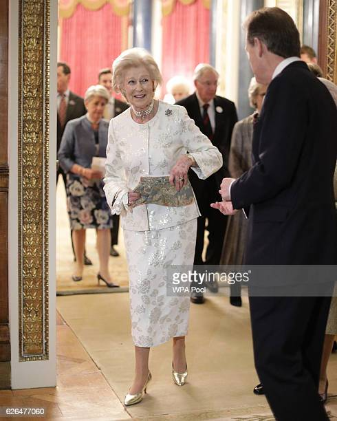 Princess Alexandra is seen during a reception to celebrate the patronages of the Princess in the year of her 80th birthday at Buckingham Palace on...