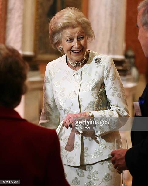 Princess Alexandra is seen during a reception to celebrate the patronages of the Princess, in the year of her 80th birthday at Buckingham Palace on...