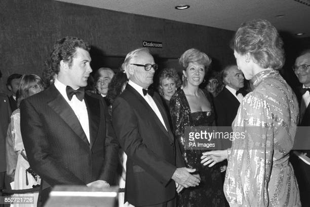 Princess Alexandra meets the stars of Who Dares Wins a film about the Special Air Services Regiment at the charity premiere in London Lewis Collins...