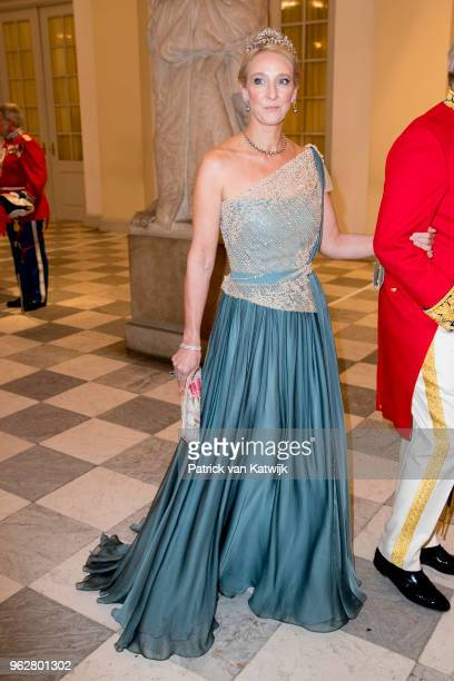 Princess Alexandra of Berleburg during the gala banquet on the occasion of The Crown Prince's 50th birthday at Christiansborg Palace Chapel on May 26...