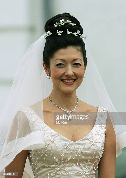 Princess Alexandra of Denmark arrives for her wedding ceremony to photographer Martin Jorgensen at Oster Egende Church on March 3 2007 in Fakse...