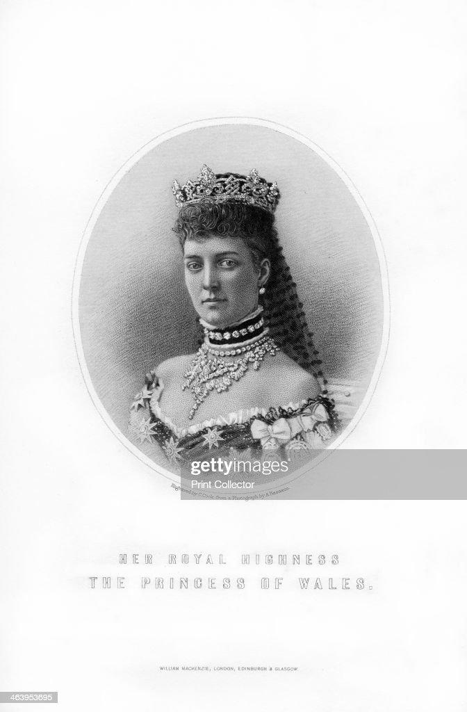 Princess Alexandra of Denmark, Princess of Wales, 1899.Artist: C Cook : News Photo