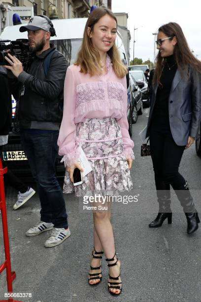Princess Alexandra of Hannover arrives at the Giambatista Valli show as part of the Paris Fashion Week Womenswear Spring/Summer 2018 on October 2,...
