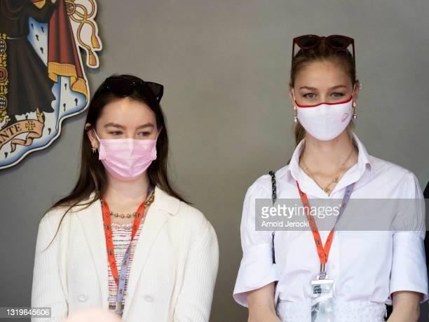 Princess Alexandra of Hanover and Beatrice Borromeo attends the F1 Grand Prix of Monaco at Circuit de Monaco on May 23, 2021 in Monte-Carlo, Monaco.