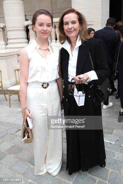 Princess Alexandra of Hanover and Carole Bouquet attend the Chanel Haute Couture Fall/Winter 2021/2022 show as part of Paris Fashion Week on July 06,...