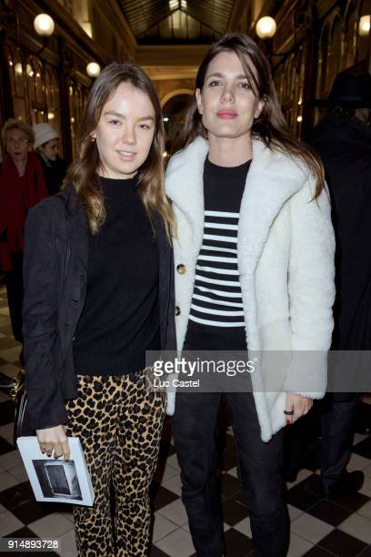 Princess Alexandra of Hanover and Charlotte Casiraghi attend the presentation of the Cahier N°3 of the philosophical meetings of Monaco on January...