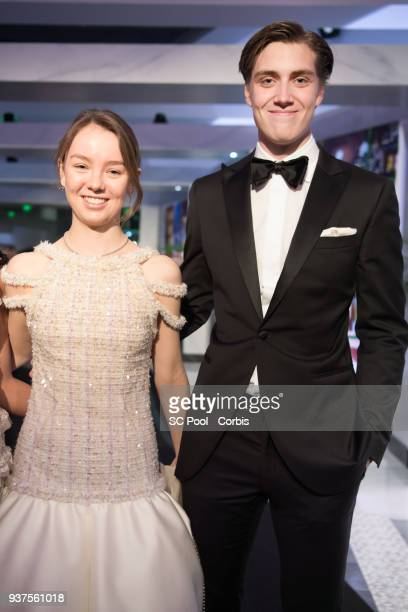 Princess Alexandra of Hanover and her boyfriend Ben Sylvester Strautmann arrive at the Rose Ball 2018 To Benefit The Princess Grace Foundation at...