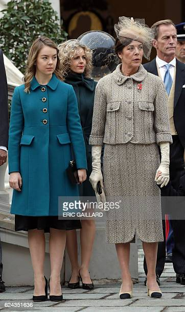 Princess Alexandra of Hanover and her mother Princess Caroline of Hanover attend the celebrations marking Monaco's National Day at the Monaco Palace...