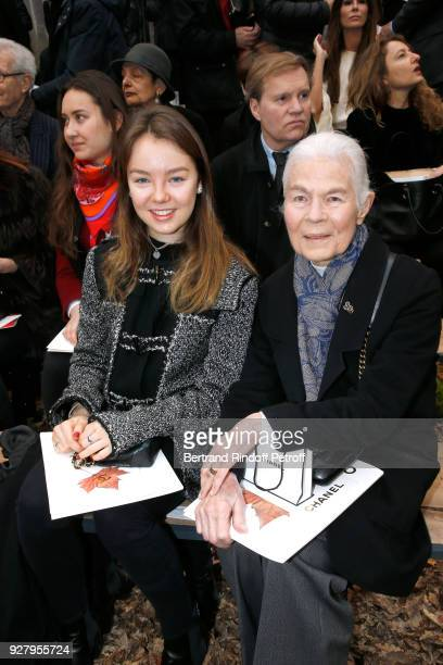 Princess Alexandra of Hanover and Micheline Chaban Delmas the Chanel show as part of the Paris Fashion Week Womenswear Fall/Winter 2018/2019 on March...