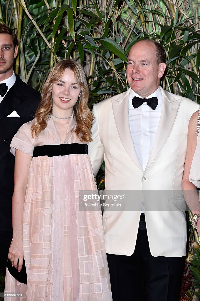 Princess Alexandra of Hanover and Prince Albert II of Monaco attend The 62nd Rose Ball To Benefit The Princess Grace Foundation at Sporting Monte-Carlo on March 19, 2016 in Monte-Carlo, Monaco.