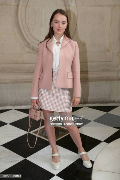 Princess Alexandra of Hanover attends the Christian Dior Haute Couture Fall/Winter 2021/2022 show as part of Paris Fashion Week on July 05, 2021 in...