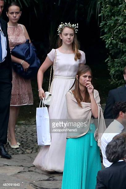 Princess Alexandra of Hanover attends the wedding ceremony of Pierre Casiraghi and Beatrice Borromeo on August 1, 2015 in Verbania, Italy.