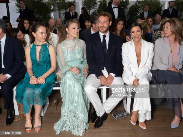 Princess Alexandra of Hanover Beatrice Casiraghi Pierre Casiraghi and Eva Longoria attends the Alberta Ferretti Cruise 2020 Collection At Monaco...
