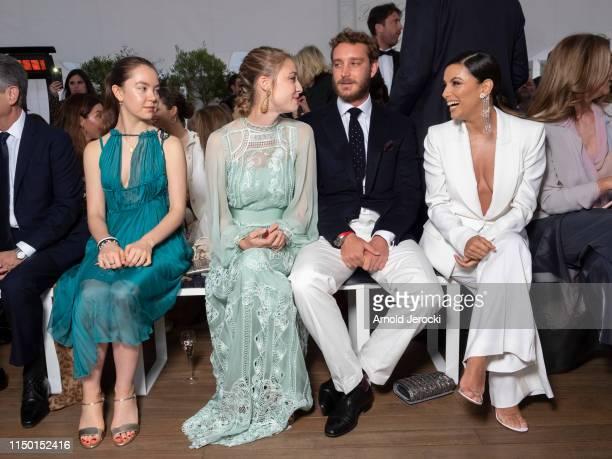 Princess Alexandra of Hanover, Beatrice Casiraghi, Pierre Casiraghi and Eva Longoria attends the Alberta Ferretti Cruise 2020 Collection At Monaco...