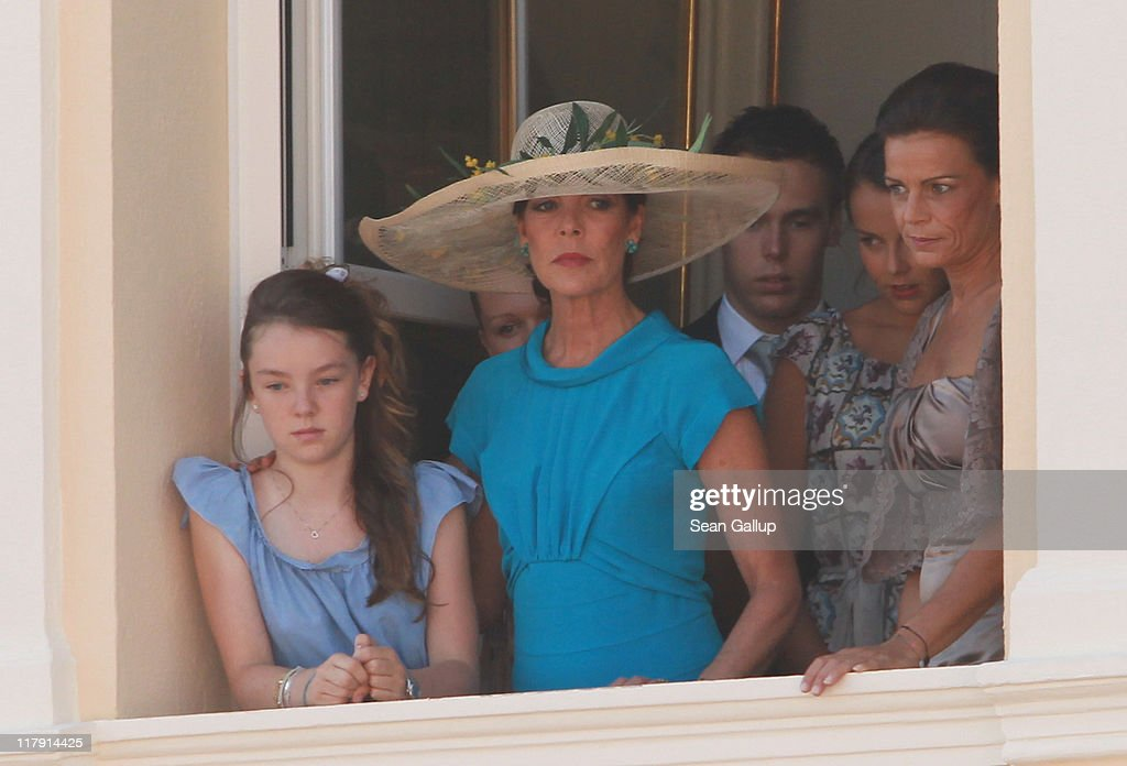Princess Alexandra of Hanover, Camille Marie Kelly Gottlieb, Princess Caroline of Hanover, Louis Ducruet, Pauline Ducruet and Princess Stephanie of Monaco attend the civil ceremony of the Royal Wedding of Prince Albert II of Monaco to Charlene Wittstock at the Prince's Palace on July 1, 2011 in Monaco. The ceremony took place in the Throne Room of the Prince's Palace of Monaco, followed by a religious ceremony to be conducted in the main courtyard of the Palace on July 2. With her marriage to the head of state of Principality of Monaco, Charlene Wittstock has become Princess consort of Monaco and gain the title, Princess Charlene of Monaco. Celebrations including concerts and firework displays are being held across several days, attended by a guest list of global celebrities and heads of state.