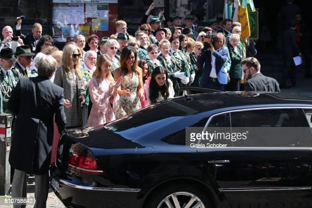 Princess Alexandra of Hanover during the wedding of Prince Ernst August of Hanover jr Duke of BrunswickLueneburg and his fiancee Ekaterina Malysheva...
