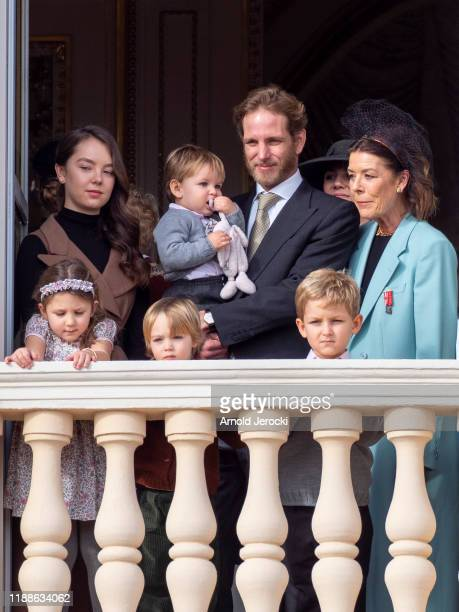 Princess Alexandra of Hanover India Casiraghi Andrea Casiraghi and his son Stefano Casiraghi and Princess Caroline of Hanover seen on the Palace...