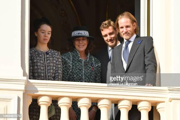 Princess Alexandra of Hanover Princess Caroline of Hanover Pierre Casiraghi and Andrea Casiraghi attend Monaco National Day Celebrations on November...